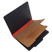 Fusion Series Pressboard Classification Folder - Red Gusset