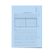 LegalSupply Tri-Fold U.S. Trademark Application Folder - Blue
