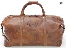 Korchmar Matte Leather Duffel - Brown