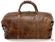 Korchmar Matte Leather Duffel - Espresso