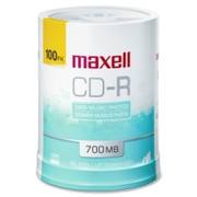 Maxell CD Recordable Media - CD-R - 48x - 700 MB - 100 Pack - 1
