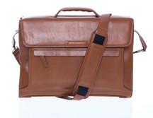 Korchmar Single-Pocket Magnetite Briefcase -  Walnut