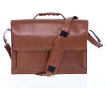 Korchmar Double-Pocket Magnetite Briefcase - Walnut