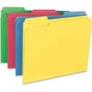 Business Source Heavyweight Assorted Color File Folder