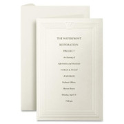 First Base Overtures Embossed Invitation Card