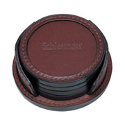 Korchmar Leather Coaster Set - Black