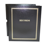 "Black Estate Planning Binder Imprinted ""Records"""