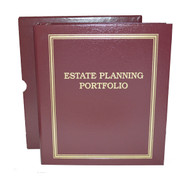 "Maroon Estate Planning Binder Imprinted ""Estate Planning Portfolio"""