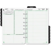 Day-Timer 2 Pages Daily Calendar Refill Pages