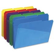 Smead 10540 Assortment Poly File Folders with Slash Pocket
