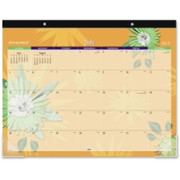 At-A-Glance Flowers Desk Pad Calendar