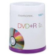 Memorex DVD Recordable Media - DVD+R - 16x - 4.70 GB - 100 Pack Spindle