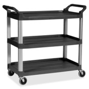 Rubbermaid 3-Shelf Mobile Utility Cart - 1