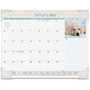 At-A-Glance Puppies Monthly Desk Pad Calendar