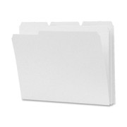 Smead 12834 White Colored File Folders with Reinforced Tab