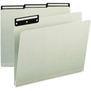 Smead 13430 Gray/Green Colored Pressboard File Folders