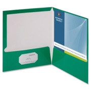 Business Source Two-Pocket Folders with Business Card Holder - 4