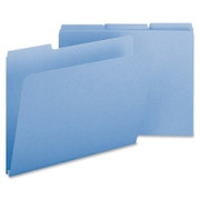 Smead 21530 Blue Colored Pressboard File Folders