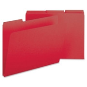Smead 21538 Bright Red Colored Pressboard File Folders