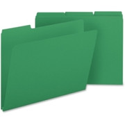 Smead 21546 Green Colored Pressboard File Folders