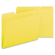 Smead 21562 Yellow Colored Pressboard File Folders