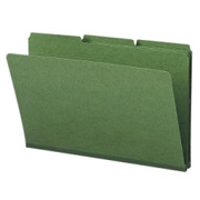 Smead 22546 Green Colored Pressboard File Folders