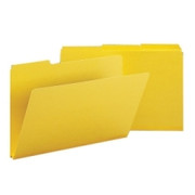 Smead 22562 Yellow Colored Pressboard File Folders
