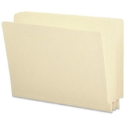 Smead 24160 Manila 100% Recycled End Tab File Folders with Reinforced Tab
