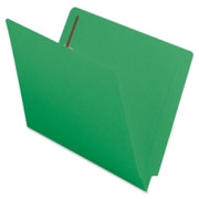 Smead 25140 Green End Tab Colored Fastener File Folders with Reinforced Tab