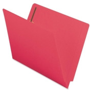 Smead 25740 Red End Tab Colored Fastener File Folders with Reinforced Tab