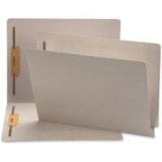Smead 25849 Gray End Tab Colored Fastener File Folders with Reinforced Tab