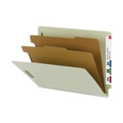 Smead 26802 Gray/Green 100% Recycled End Tab Classification Folders