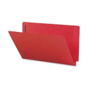 Smead 28740 Red End Tab Colored Fastener File Folders with Reinforced Tab