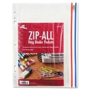 Anglers Zip-All Ring Binder Pockets - 1