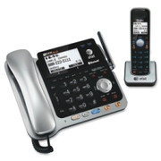 AT&T Bluetooth, DECT Cordless Phone - Black, Silver