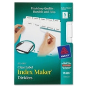 Avery Index Maker Clear Label Divider - 16