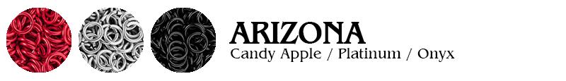 Arizona Football Jump Rings : Candy Apple / Platinum / Onyx