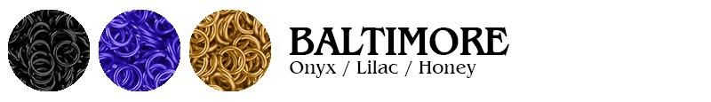 Baltimore Football Jump Rings : Onyx / Lilac / Honey