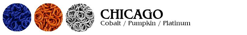 Chicago Football Jump Rings : Cobalt / Pumpkin / Platinum