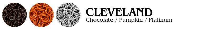 Cleveland Football Jump Rings : Chocolate / Pumpkin / Platinum