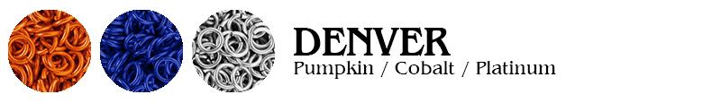 Denver Football Jump Rings : Pumpkin / Cobalt / Platinum