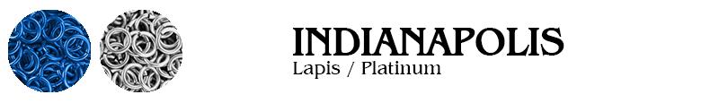 Indianapolis Football Jump Rings : Lapis / Platinum