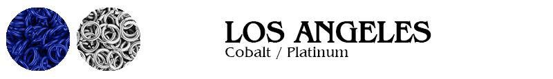Los Angeles Football Jump Rings :  Cobalt / Platinum