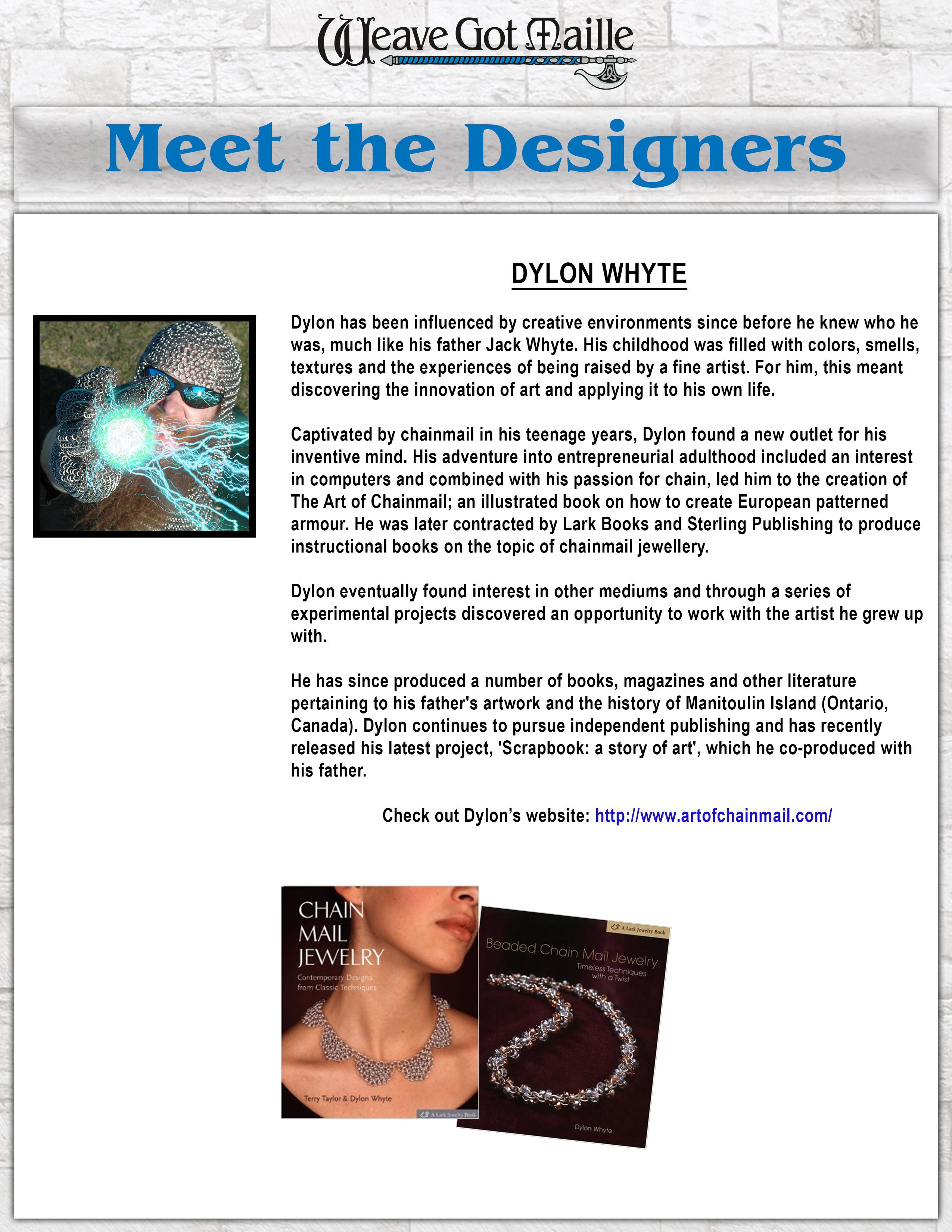 Dylon Whyte Chainmaille Designer