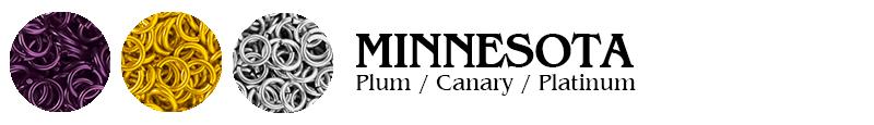 Minnesota Football Jump Rings : Plum / Canary / Platinum