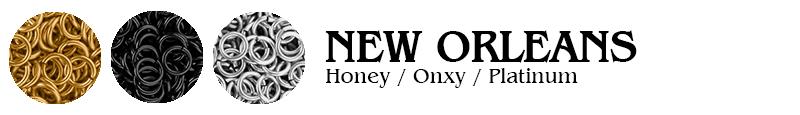 New Orleans Football Jump Rings : Honey / Onyx / Platinum