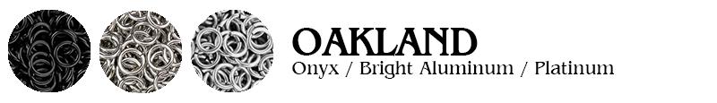 Oakland Football Jump Rings : Onyx / Bright Aluminum / Platinum