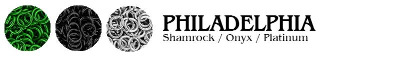 Philadelphia Football Jump Rings : Shamrock / Onyx / Platinum