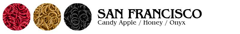 San Francisco Football Jump Rings : Candy Apple / Honey / Onyx