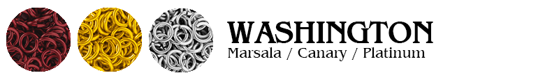 Washington Football Jump Rings : Marsala / Canary / Platinum
